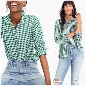 J.Crew Classic Fit Boy Shirt in Crinkle Gingham